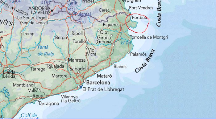 Map Of Spain Reus.Costa Brava Guide Cadaques Cadaques Map